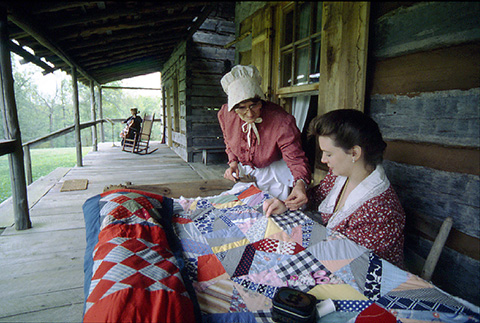 People Quilting at Collinsville