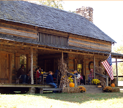 Fall decor at Historic Collinsville